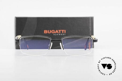 Bugatti 547 Walnut Wood Luxury Glasses M, Size: medium, Made for Men
