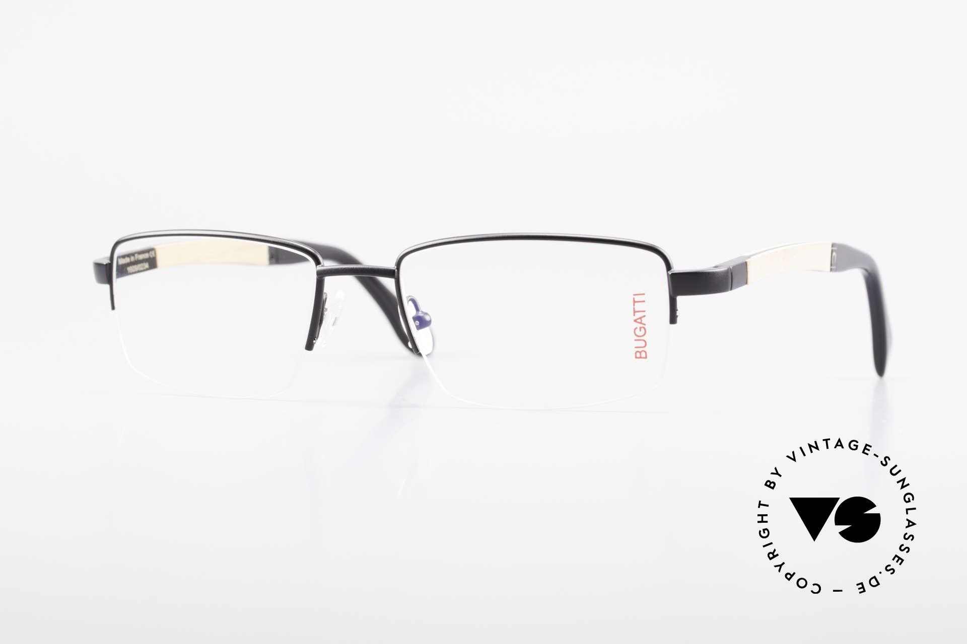 Bugatti 547 Walnut Wood Luxury Glasses L, BUGATTI vintage eyeglasses of incredible top-quality, Made for Men