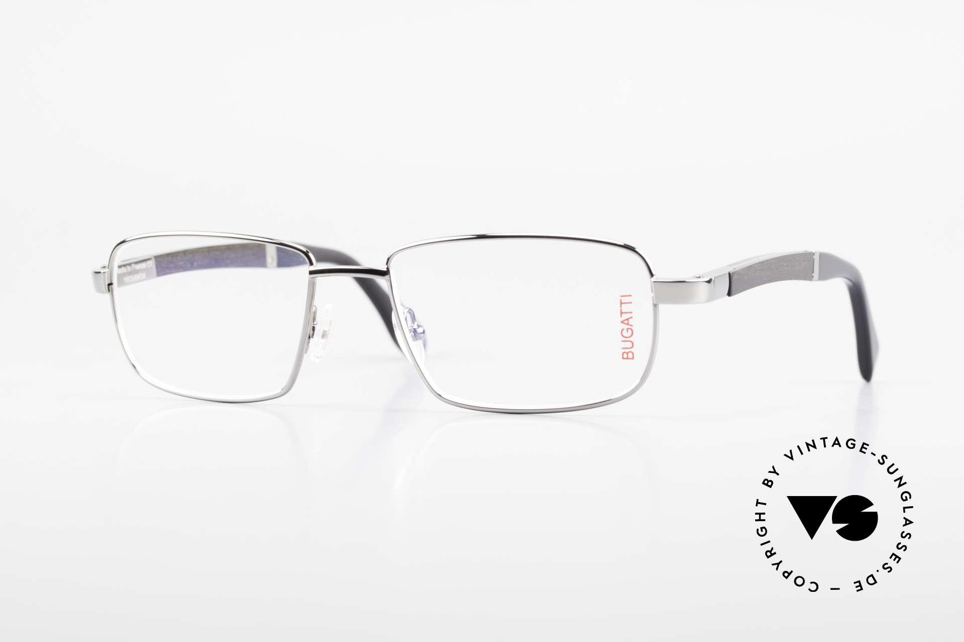 Bugatti 548 Precious Ebony Ruthenium M, BUGATTI vintage eyeglasses of incredible top-quality, Made for Men