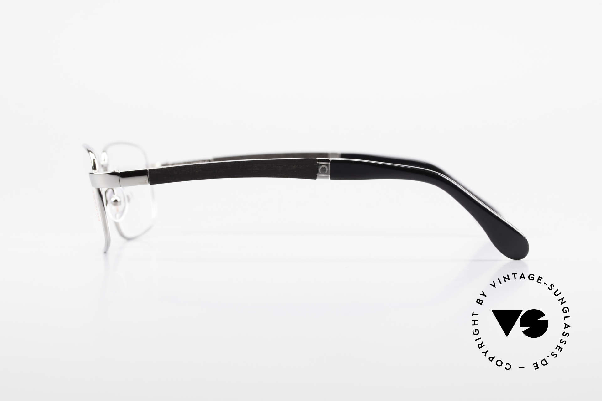 Bugatti 548 Precious Ebony Ruthenium M, flexible spring hinges for a 1st class wearing comfort, Made for Men