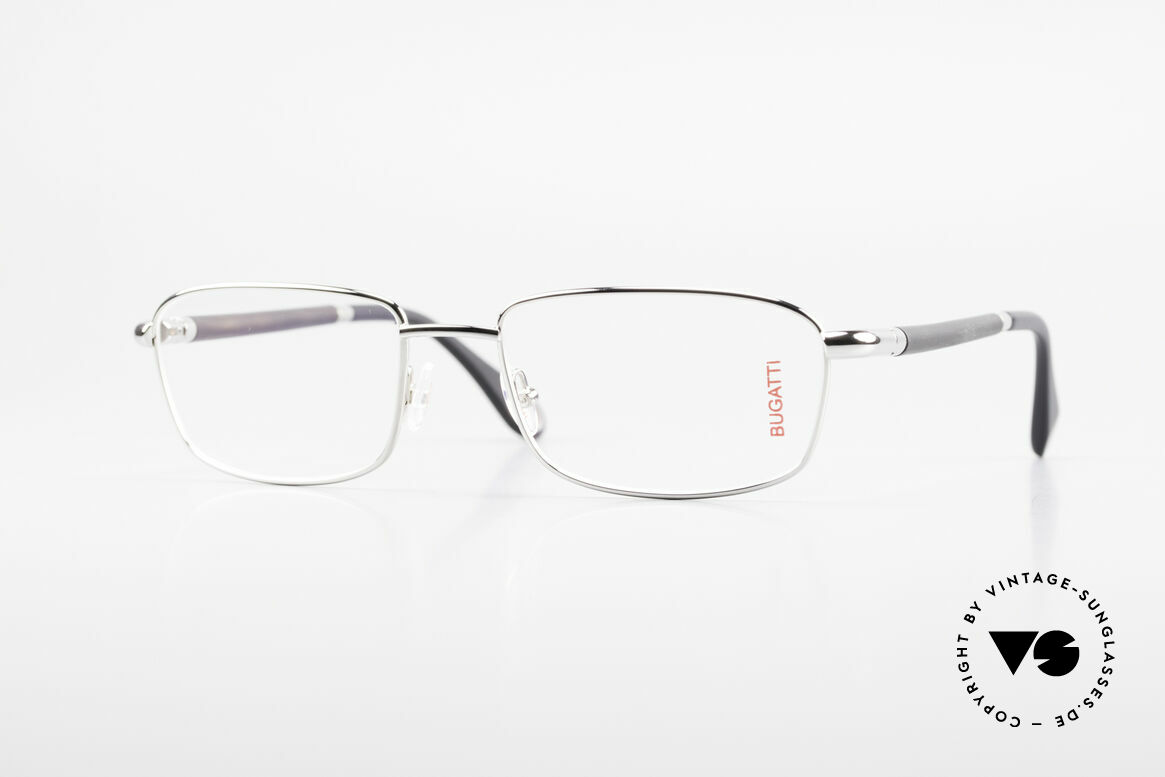 Bugatti 540 White Gold And Genuine Horn, luxury eyeglasses by BUGATTI, TOP-NOTCH quality, Made for Men