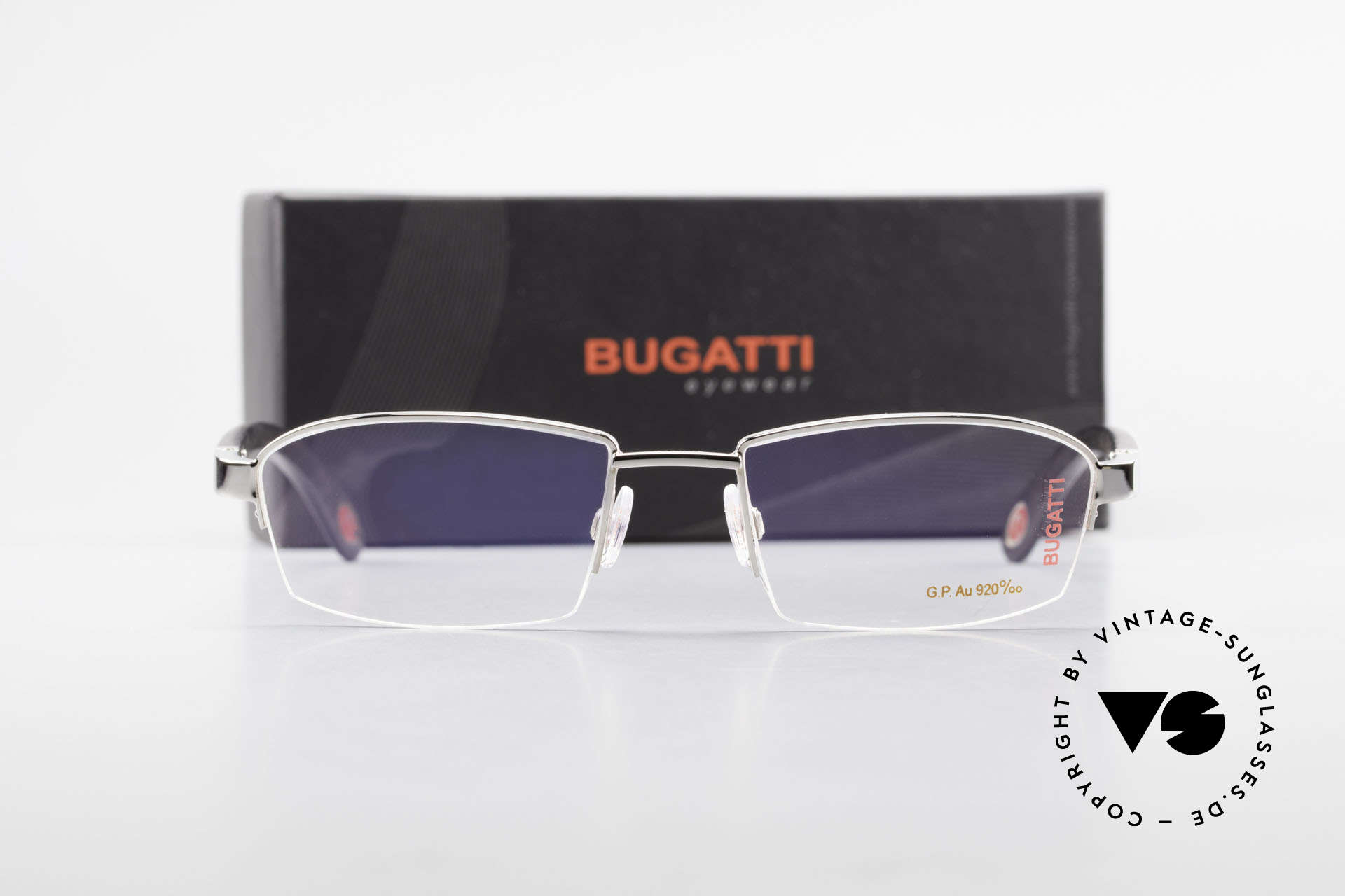 Bugatti 473 Precious Ebony White Gold, Size: large, Made for Men