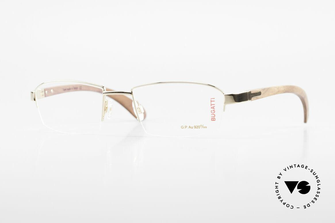 Bugatti 473 Kotibé Precious Wood Gold, costly BUGATTI luxury eyeglasses; incredibly refined, Made for Men