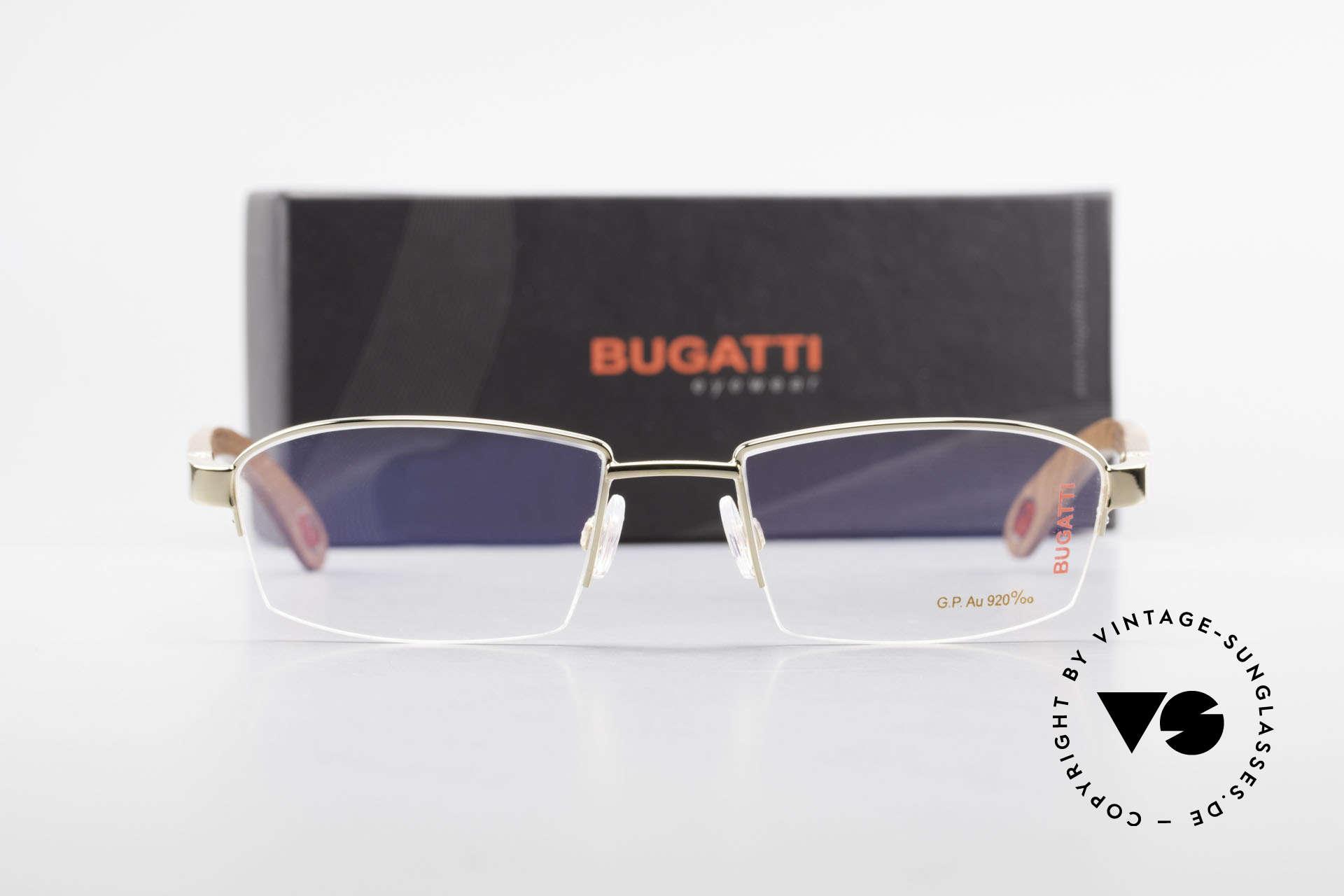 Bugatti 473 Kotibé Precious Wood Gold, Size: large, Made for Men