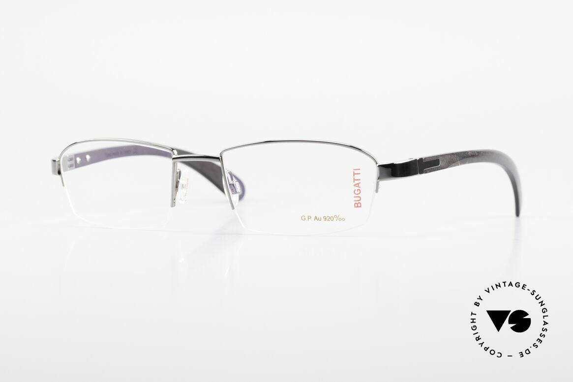 Bugatti 473 Precious Ebony Gray Gold, costly BUGATTI luxury eyeglasses; incredibly refined, Made for Men