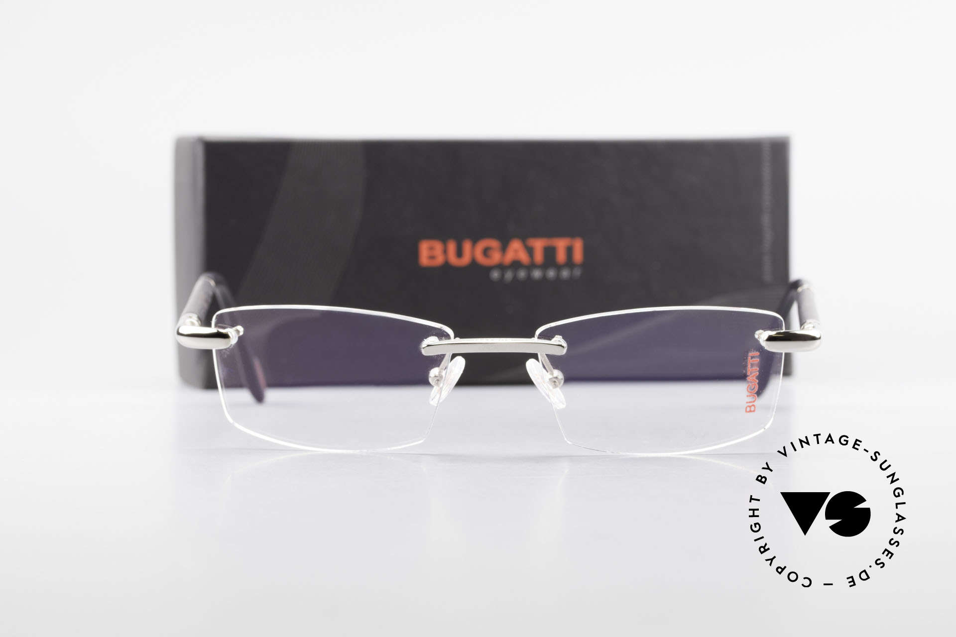 Bugatti 545 White Gold And Genuine Horn, Size: medium, Made for Men