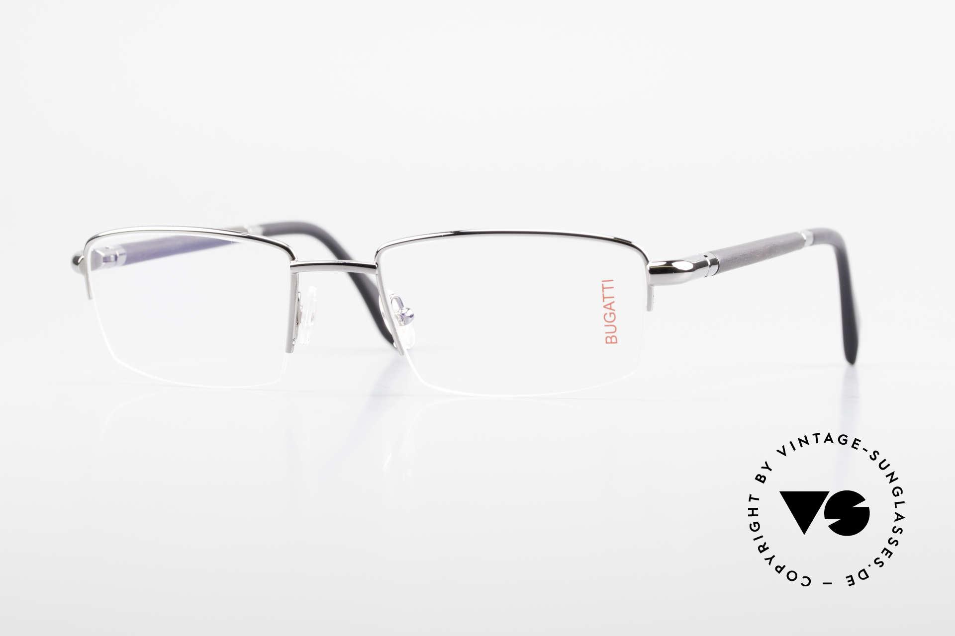 Bugatti 535 Horn Nylor Glasses Palladium, luxury eyeglasses by BUGATTI, TOP-NOTCH quality, Made for Men