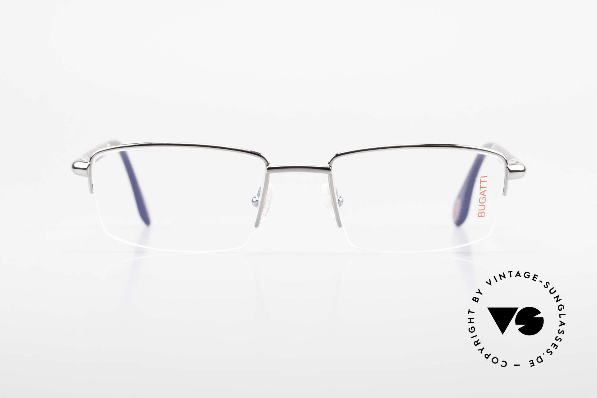 Bugatti 535 Horn Nylor Glasses Palladium, NYLOR metal frame (size 54/20) is Palladium-plated, Made for Men