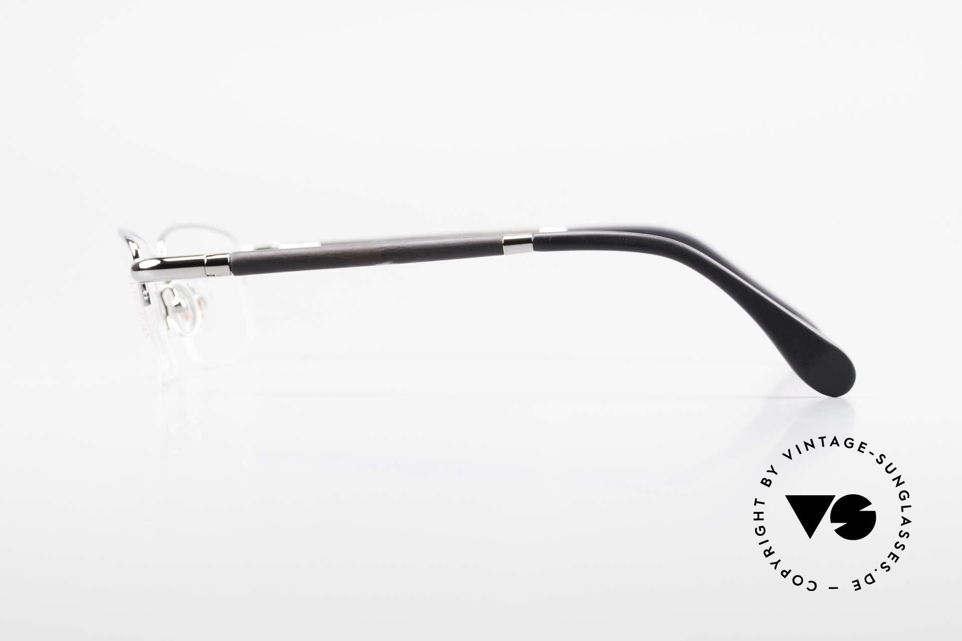 Bugatti 535 Horn Nylor Glasses Palladium, LIMITED EDITION: 90's small batch series by Bugatti, Made for Men