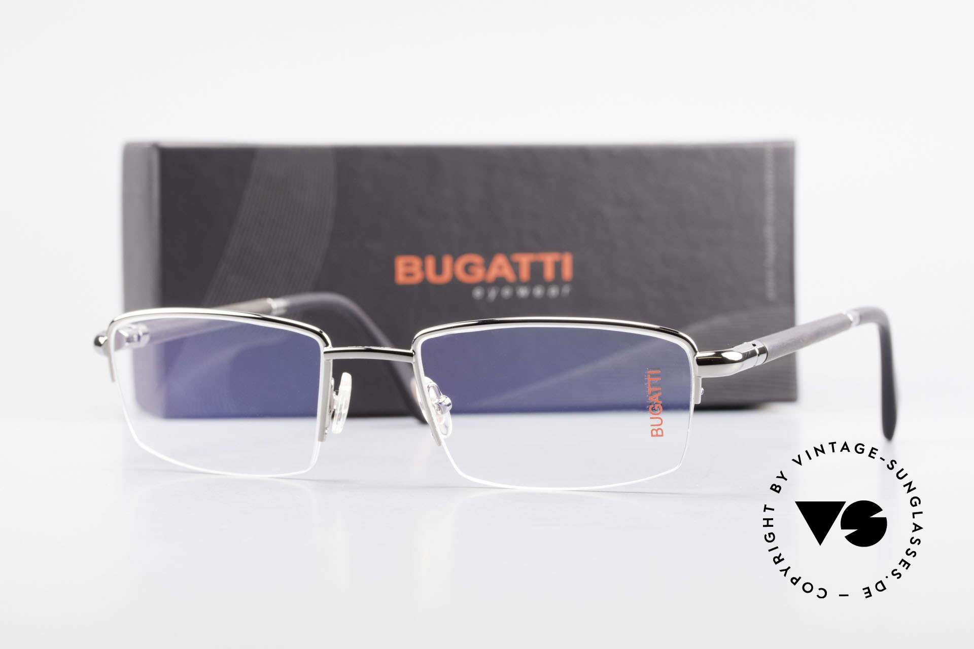 Bugatti 535 Horn Nylor Glasses Palladium, Size: medium, Made for Men
