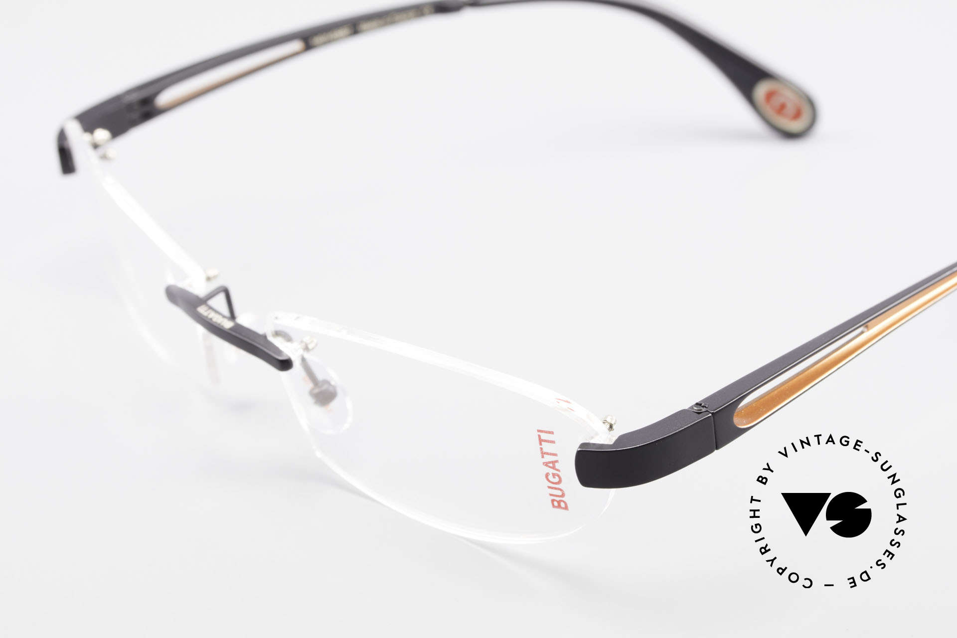 Bugatti 516 Luxury Rimless Glasses Men, unworn (like all our rare vintage Bugatti eyeglasses), Made for Men