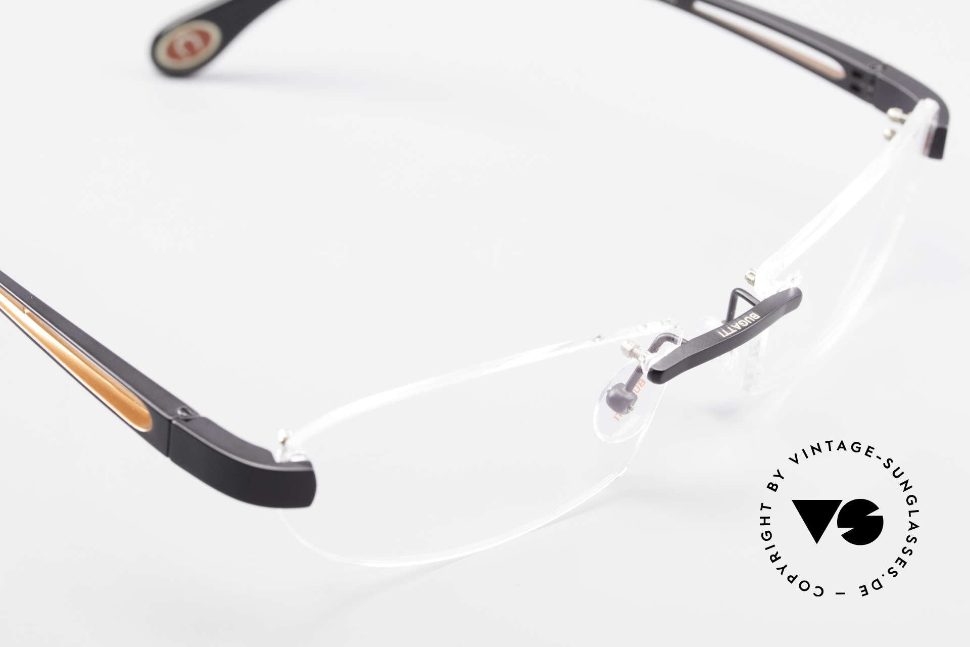 Bugatti 516 Luxury Rimless Glasses Men, NO RETRO EYEWEAR, but a costly rarity, size 56/18, Made for Men