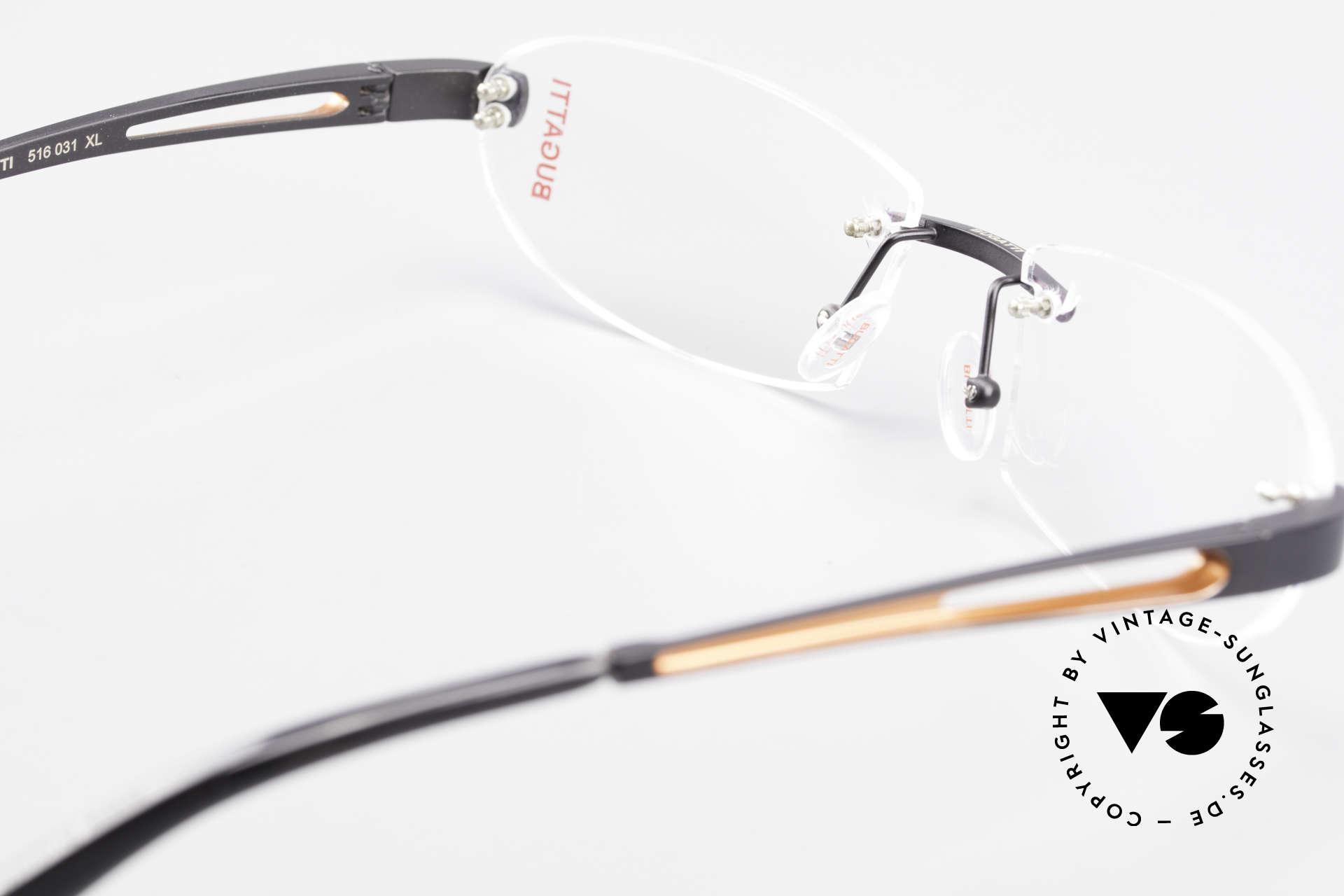 Bugatti 516 Luxury Rimless Glasses Men, Size: medium, Made for Men