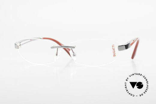 Bugatti 516 Rimless Eyeglasses For Men Details