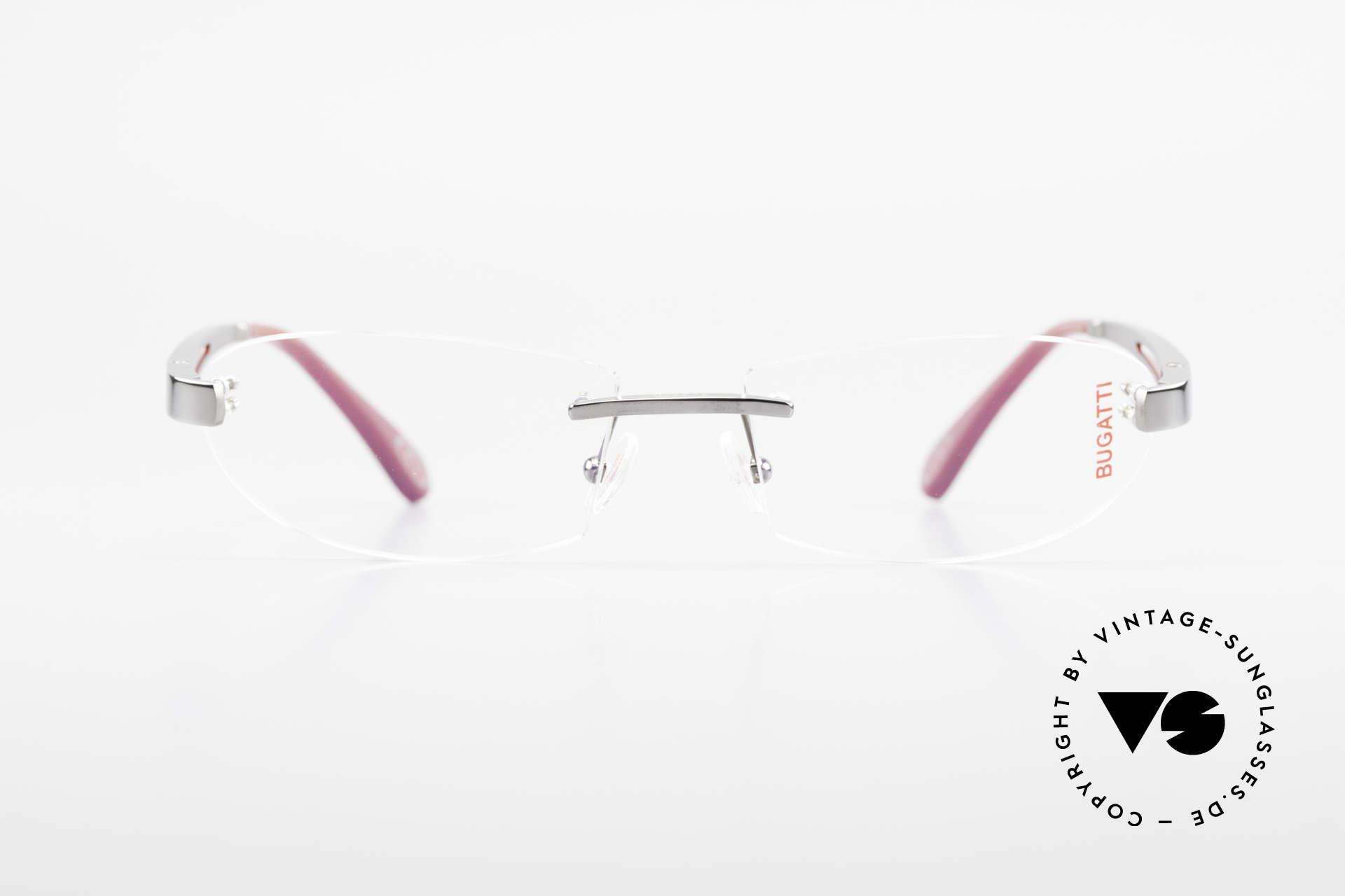 Bugatti 516 Rimless Eyeglasses For Men, sporty frame and lens design ... striking masculine, Made for Men