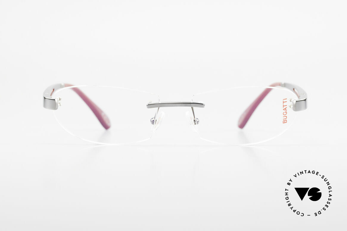 Bugatti 516 Rimless Eyeglasses For Men, sporty frame and lens design ... striking masculine, Made for Men