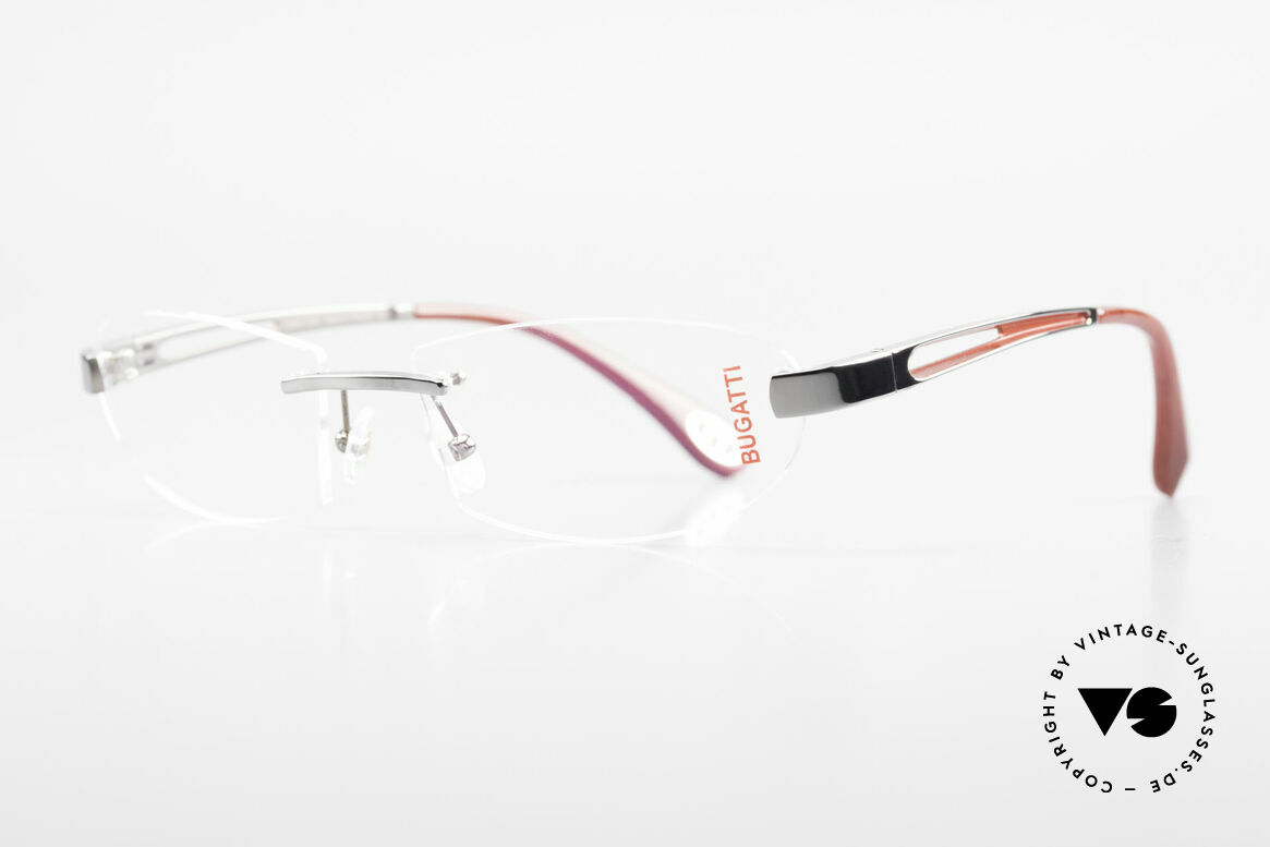 Bugatti 516 Rimless Eyeglasses For Men, a noble ORIGINAL by BUGATTI from the late 1990's, Made for Men