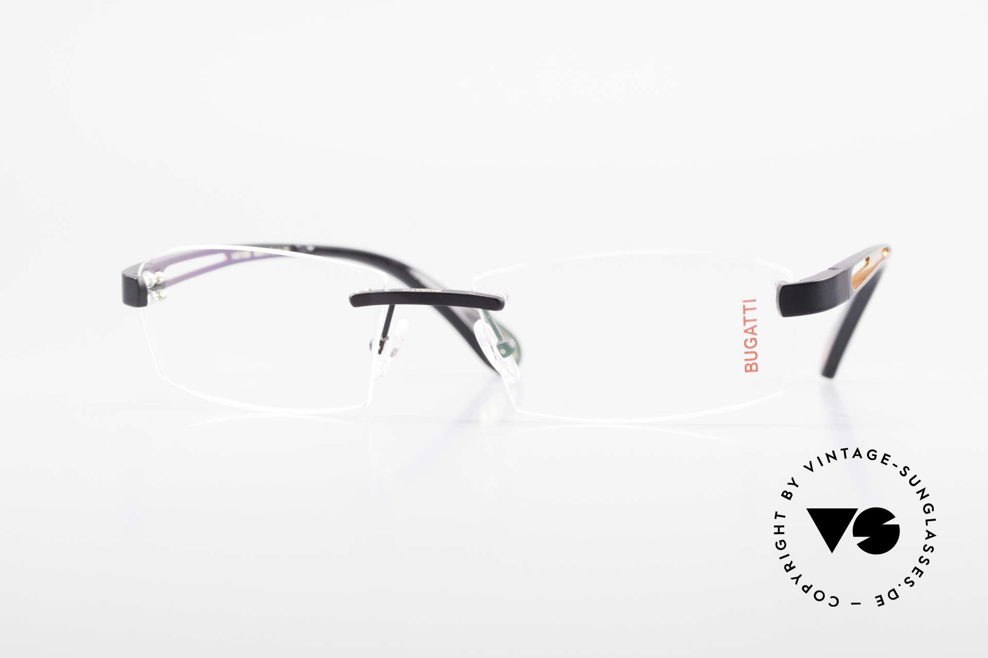 Bugatti 515 Rimless Designer Glasses Men, original, vintage rimless eyeglass-frame by Bugatti, Made for Men