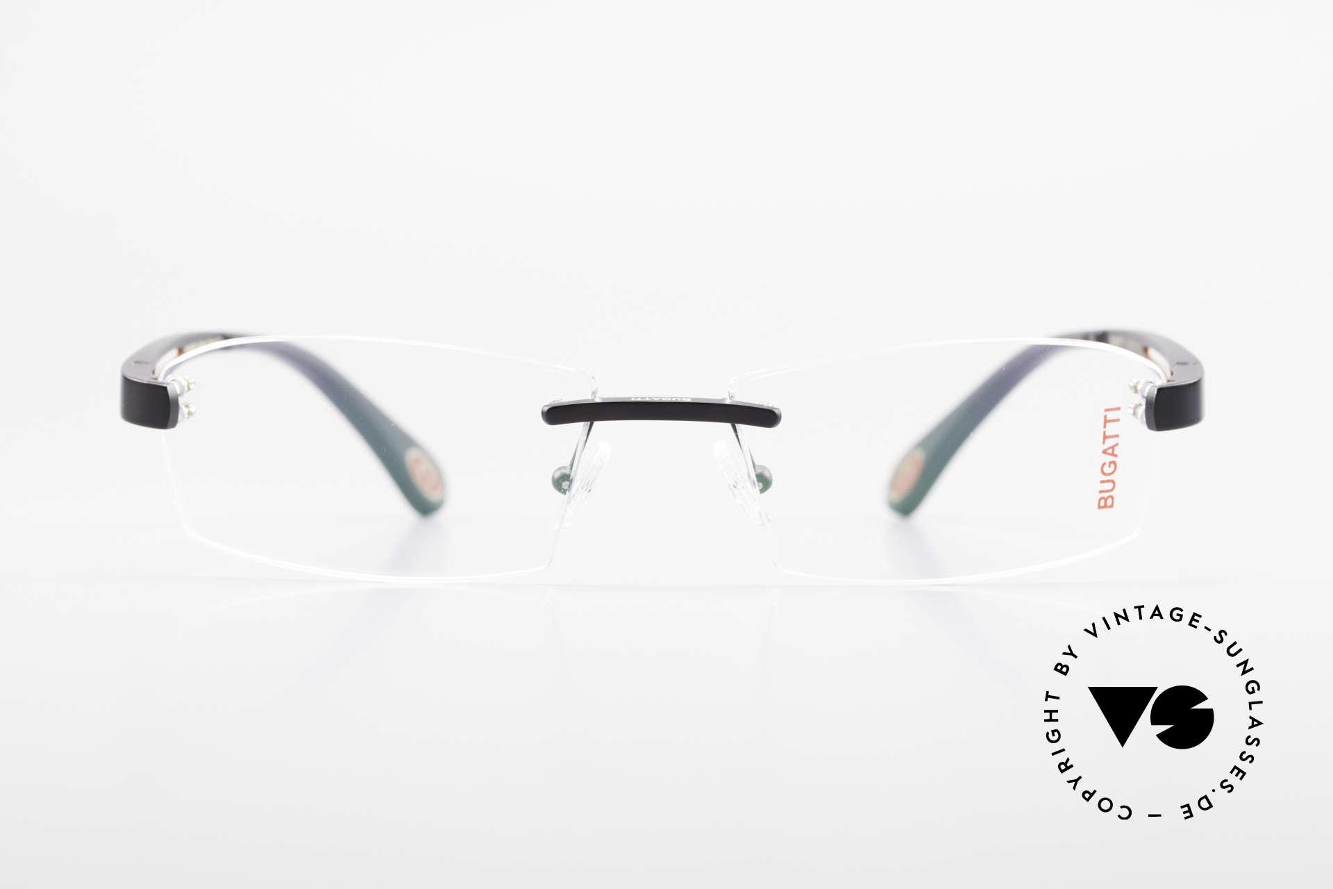 Bugatti 515 Rimless Designer Glasses Men, sporty frame and lens design ... striking masculine, Made for Men