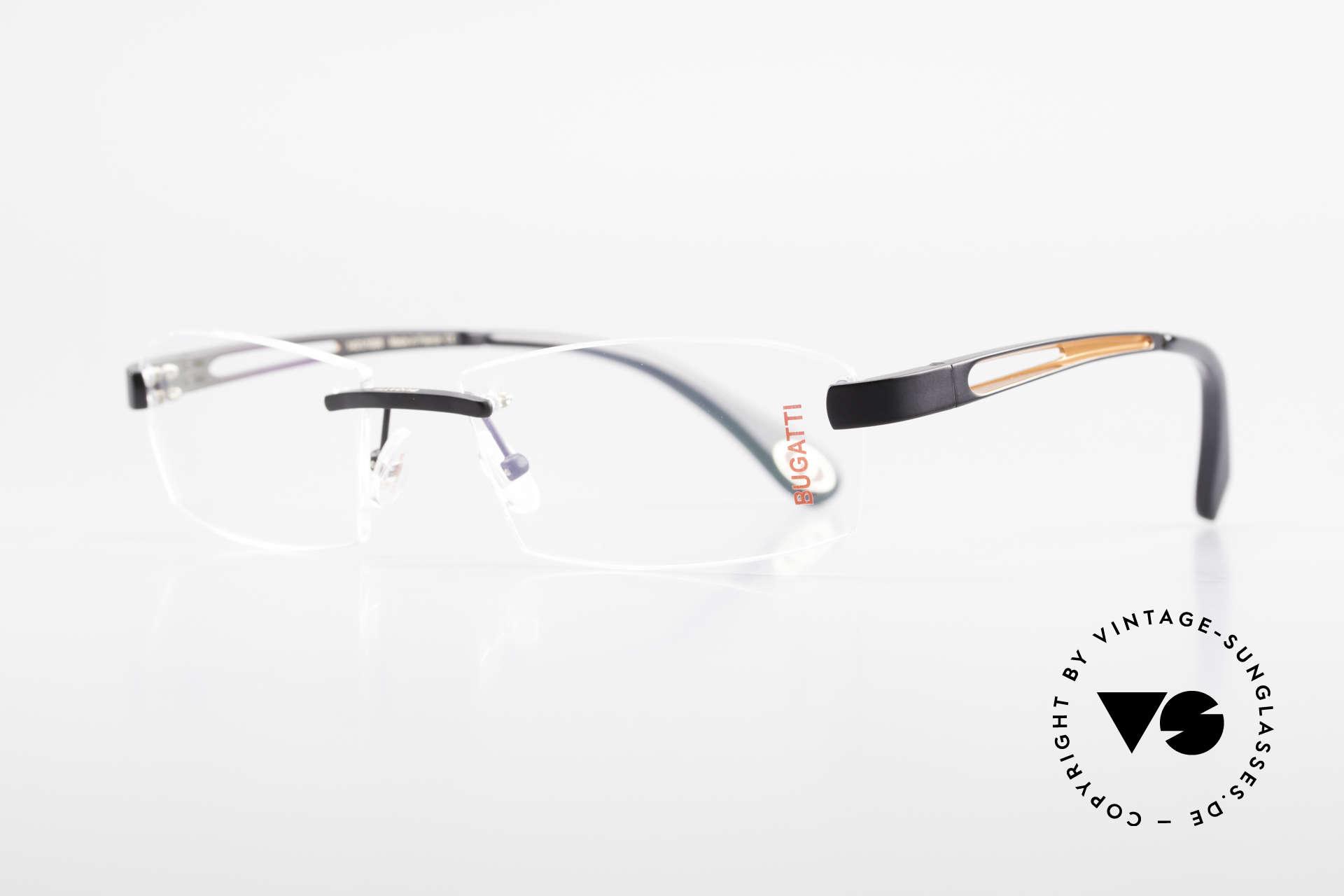 Bugatti 515 Rimless Designer Glasses Men, a noble ORIGINAL by BUGATTI from the late 1990's, Made for Men