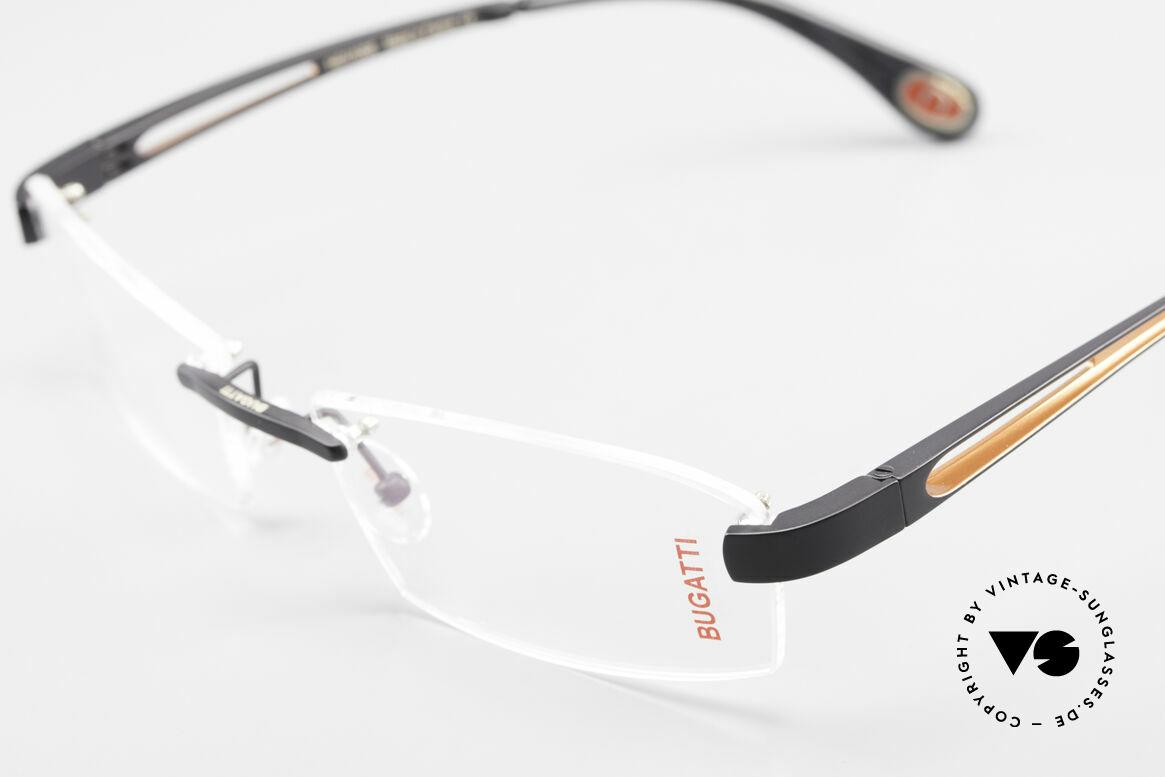 Bugatti 515 Rimless Designer Glasses Men, unworn (like all our rare vintage Bugatti eyeglasses), Made for Men