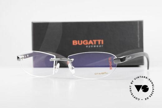 Bugatti 518 Gray Gold Precious Ebony, Size: large, Made for Men