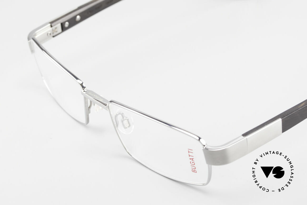 Bugatti 531 Ebony Titan Frame Ruthenium, flexible spring hinges for a 1st class wearing comfort, Made for Men