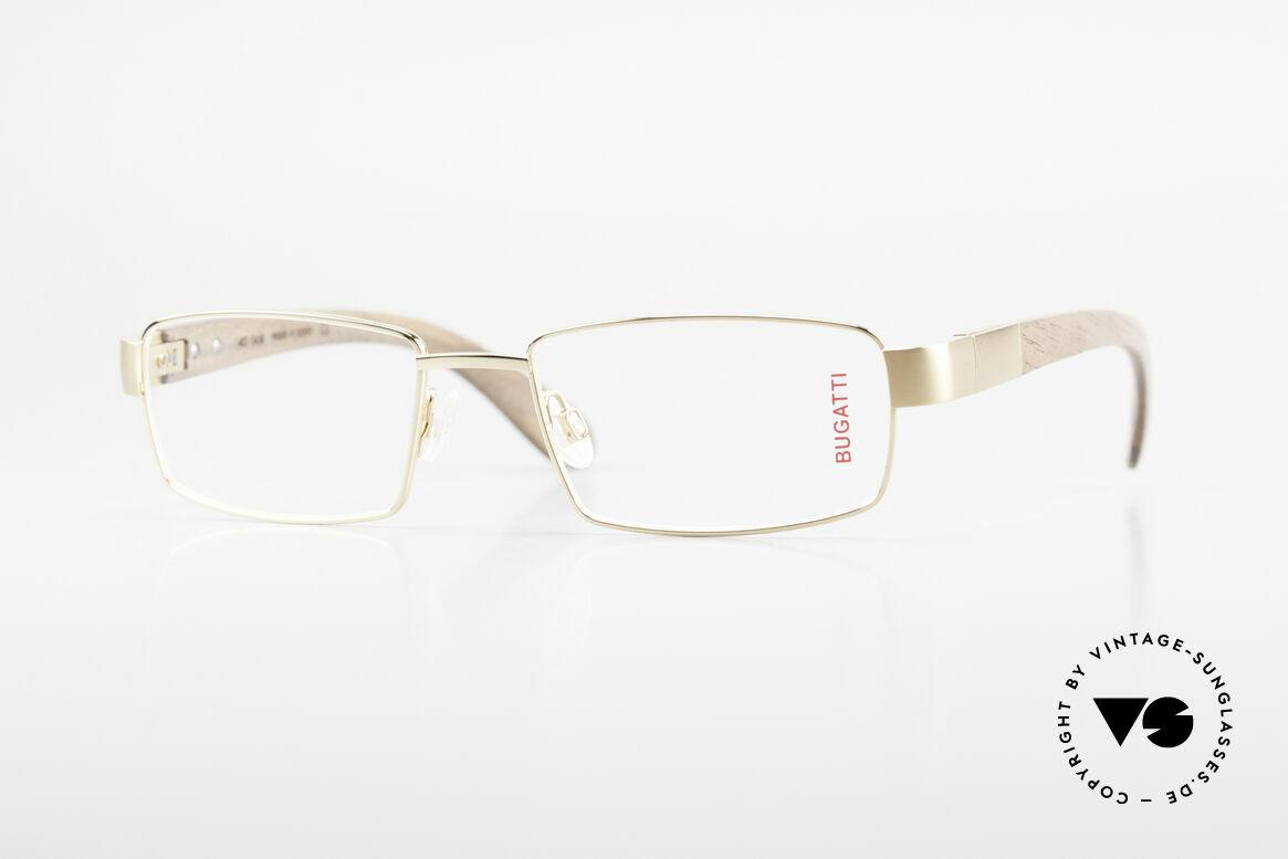 Bugatti 531 Walnut Titanium Gold Plated, luxury eyeglasses by BUGATTI, TOP-NOTCH quality, Made for Men