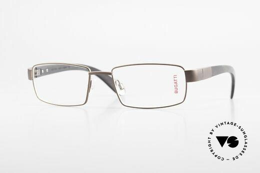 Bugatti 531 Ebony Titanium Eyeglass-Frame Details