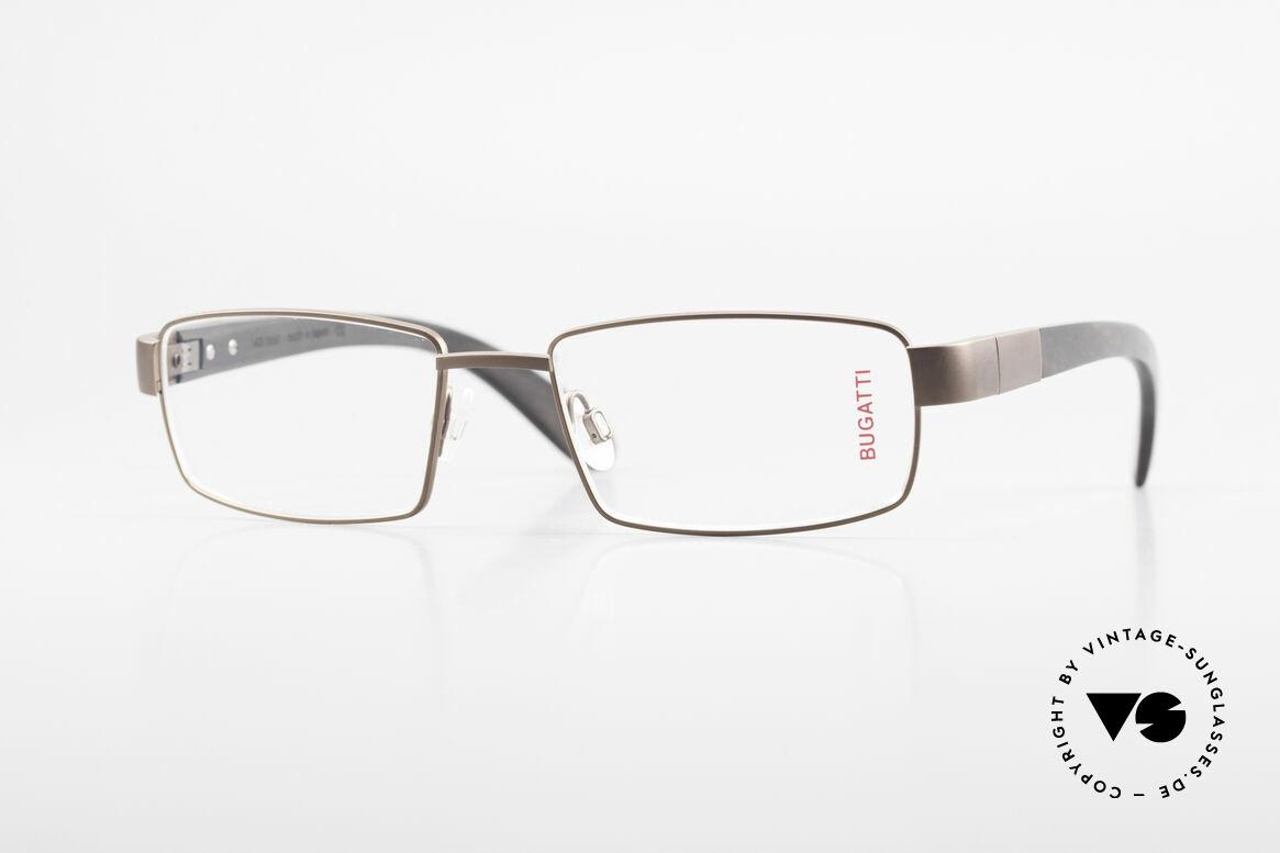 Bugatti 531 Ebony Titanium Eyeglass-Frame, luxury eyeglasses by BUGATTI, TOP-NOTCH quality, Made for Men