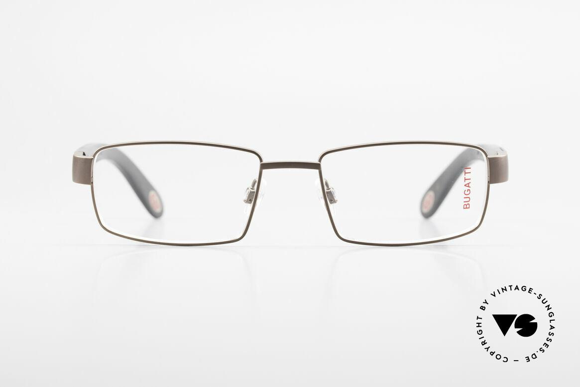 Bugatti 531 Ebony Titanium Eyeglass-Frame, satin brown Titanium frame (in LARGE size 55/18), Made for Men