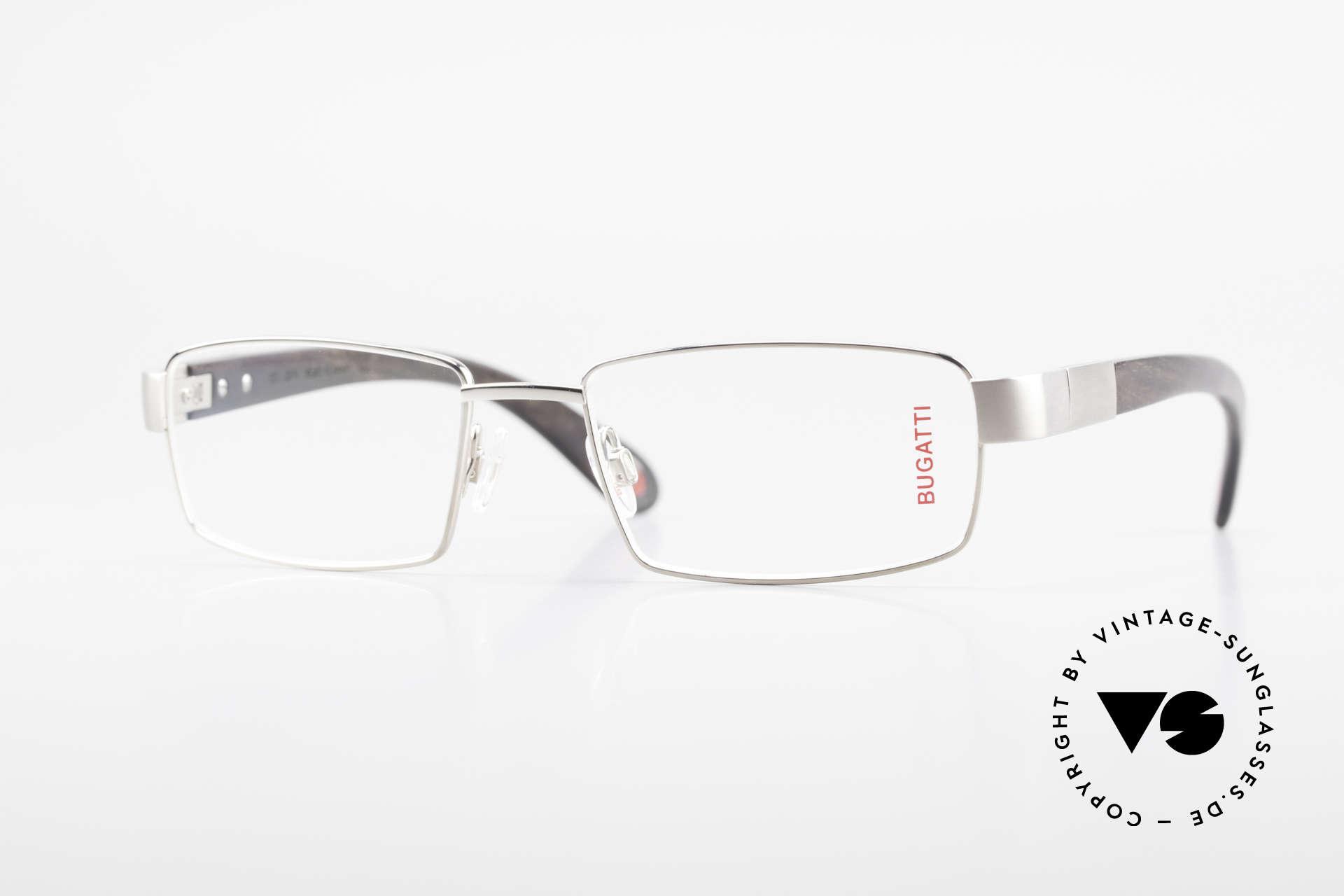 Bugatti 531 Ebony Titan Frame Palladium, luxury eyeglasses by BUGATTI, TOP-NOTCH quality, Made for Men