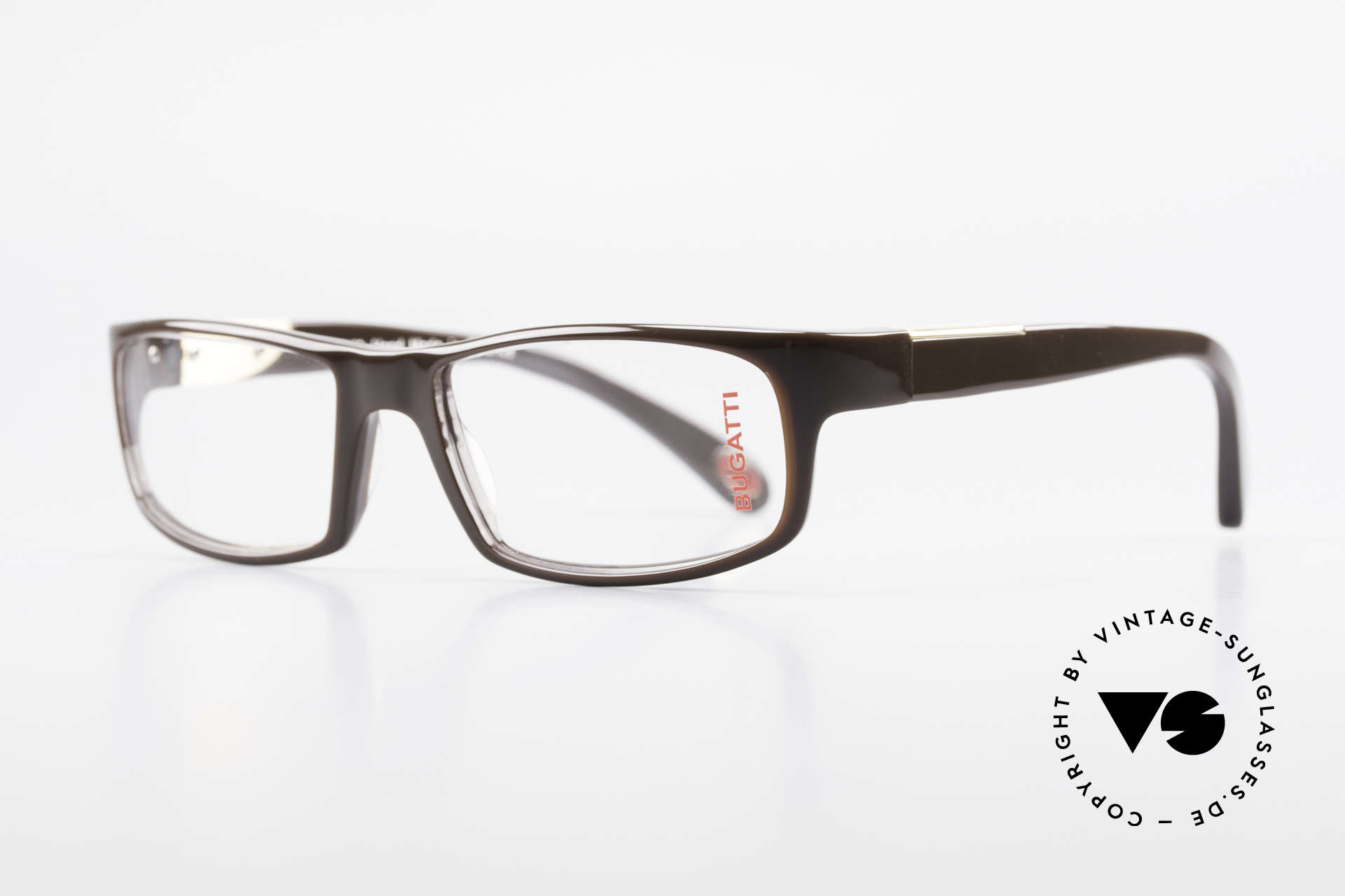 Bugatti 532 Striking Men's Eyeglass-Frame, 1. class wearing comfort due to spring hinges, Made for Men