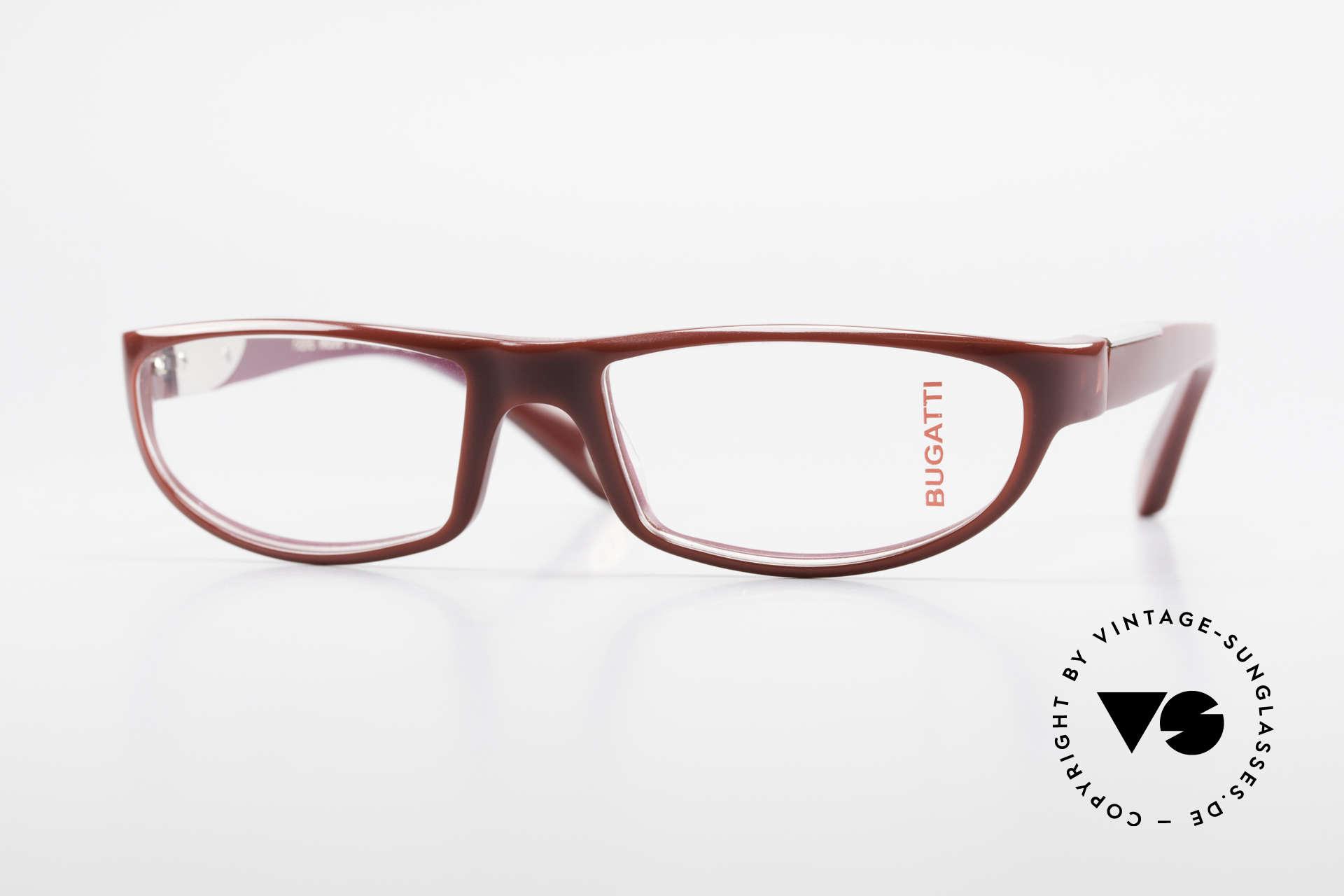 Bugatti 534 Striking Plastic Eyeglass-Frame, striking plastic eyeglass-frame by BUGATTI, Made for Men
