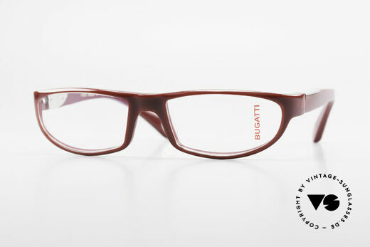 Bugatti 534 Striking Plastic Eyeglass-Frame Details