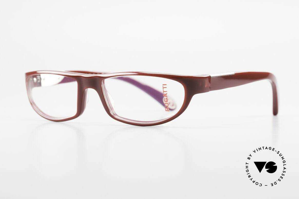 Bugatti 534 Striking Plastic Eyeglass-Frame, 1. class wearing comfort due to spring hinges, Made for Men