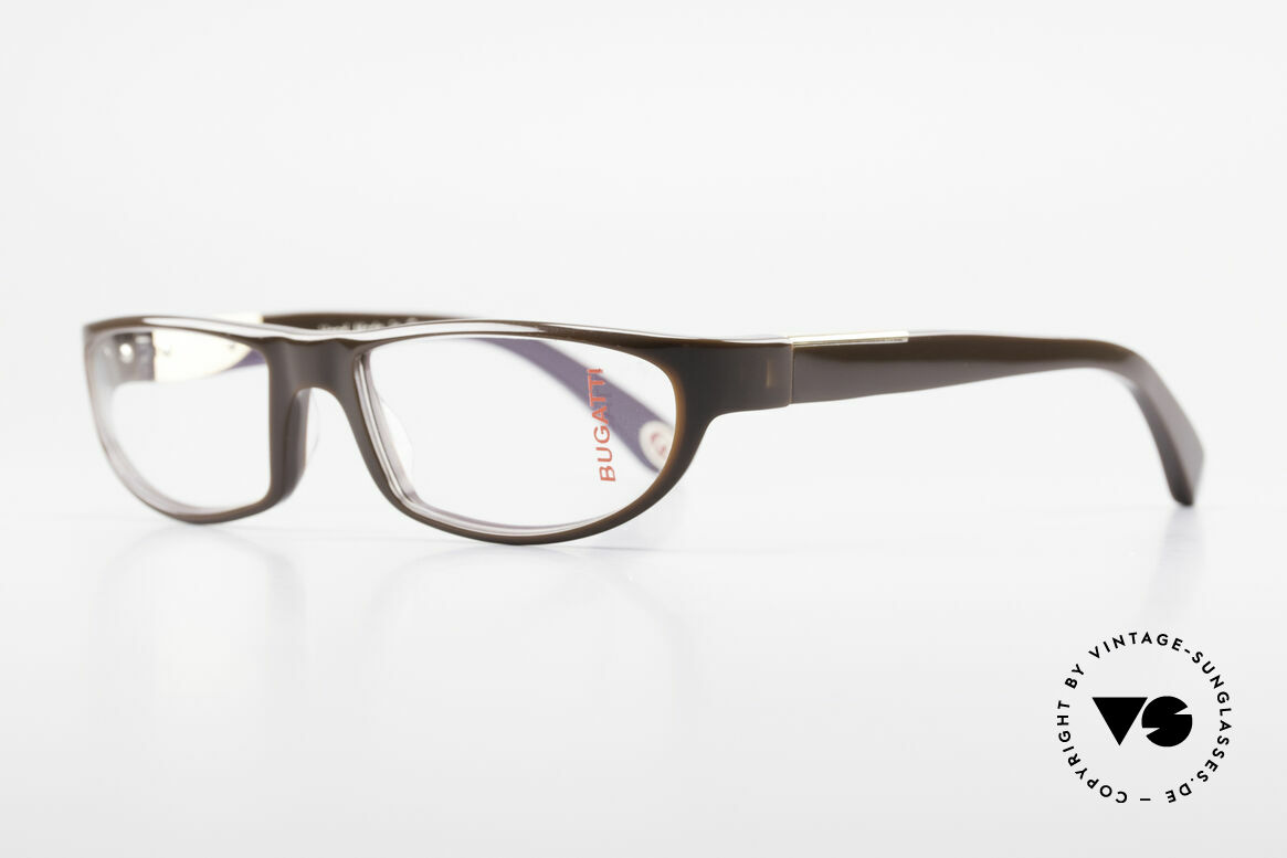 Bugatti 534 Men's Plastic Luxury Glasses, 1. class wearing comfort due to spring hinges, Made for Men
