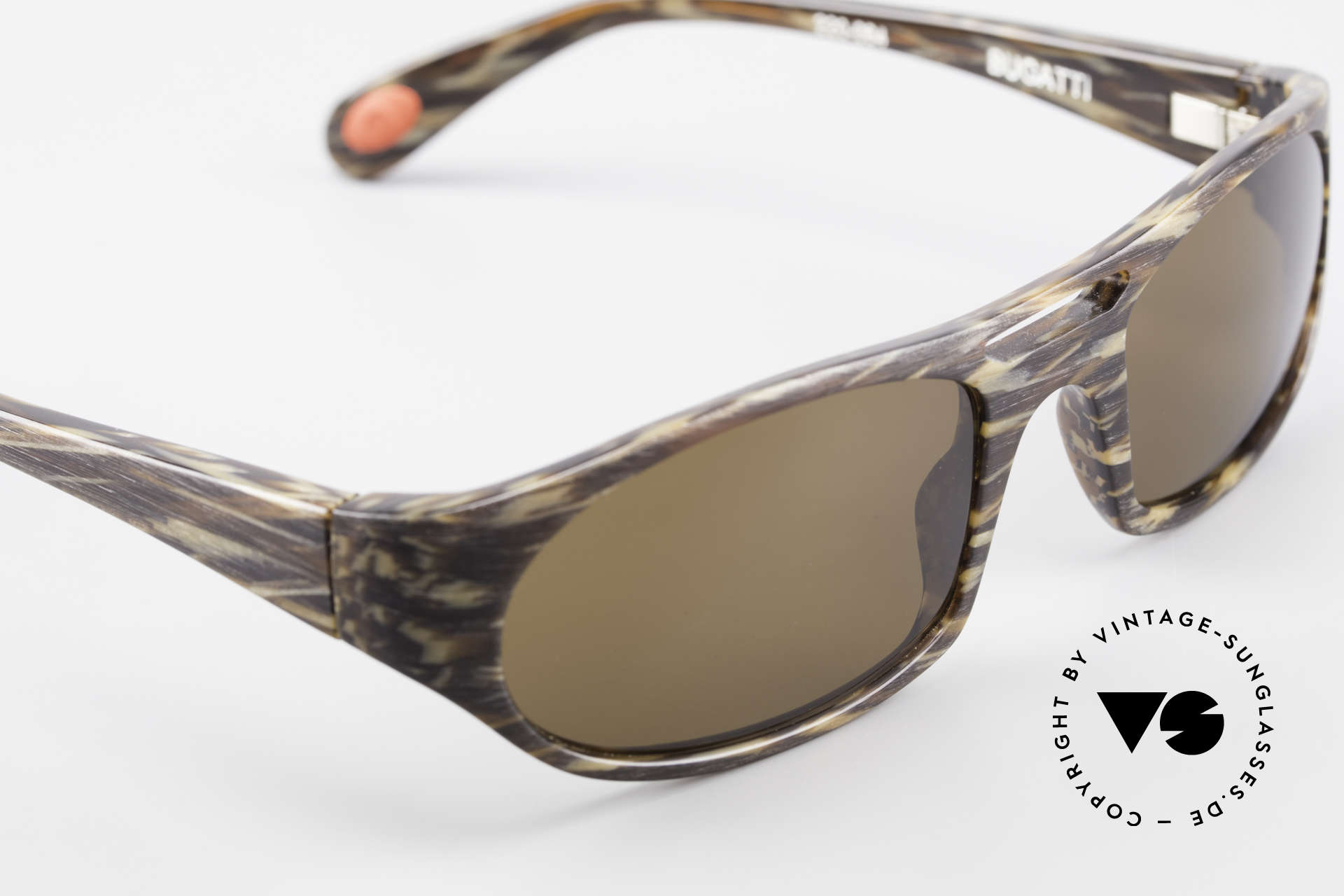 Bugatti 220 Rare Designer Luxury Shades, dark brown sun lenses for 100% UV protection, Made for Men