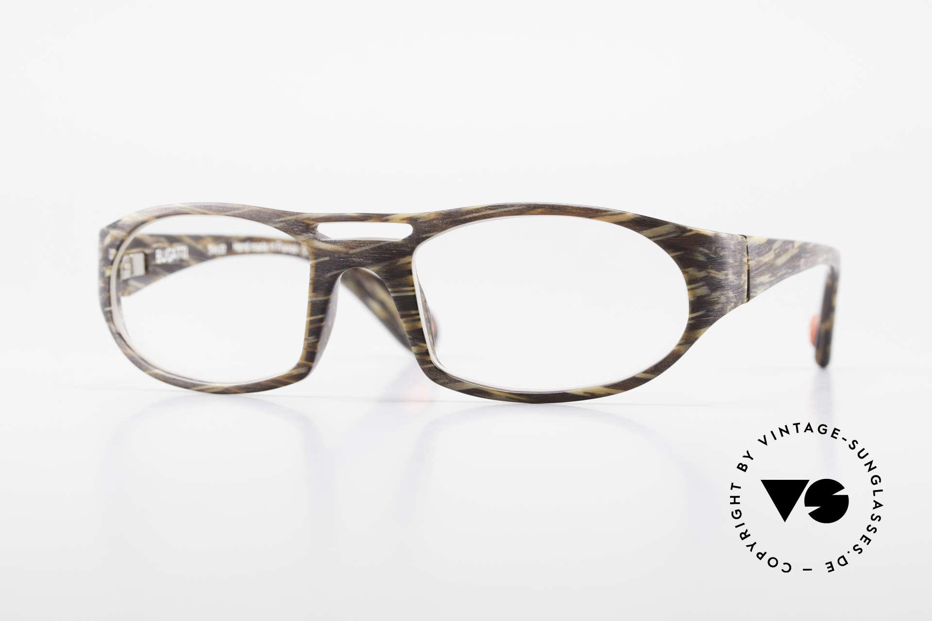 Bugatti 220 Men's Designer Luxury Glasses, striking high-tech eyeglass-frame by BUGATTI, Made for Men