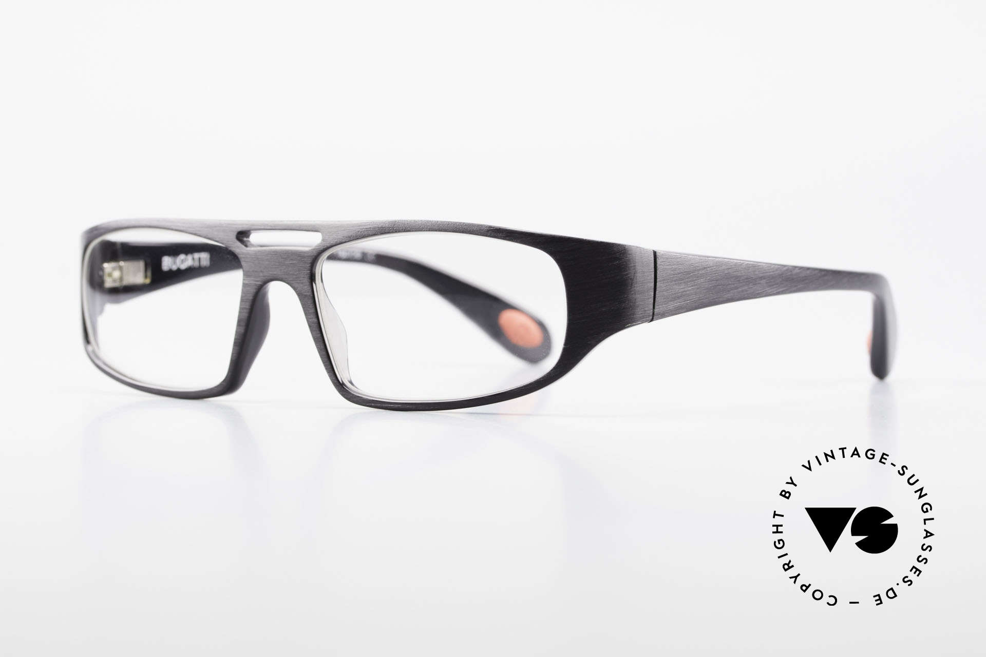 Bugatti 222 Extraordinary Vintage Glasses, 1. class wearing comfort due to spring hinges, Made for Men