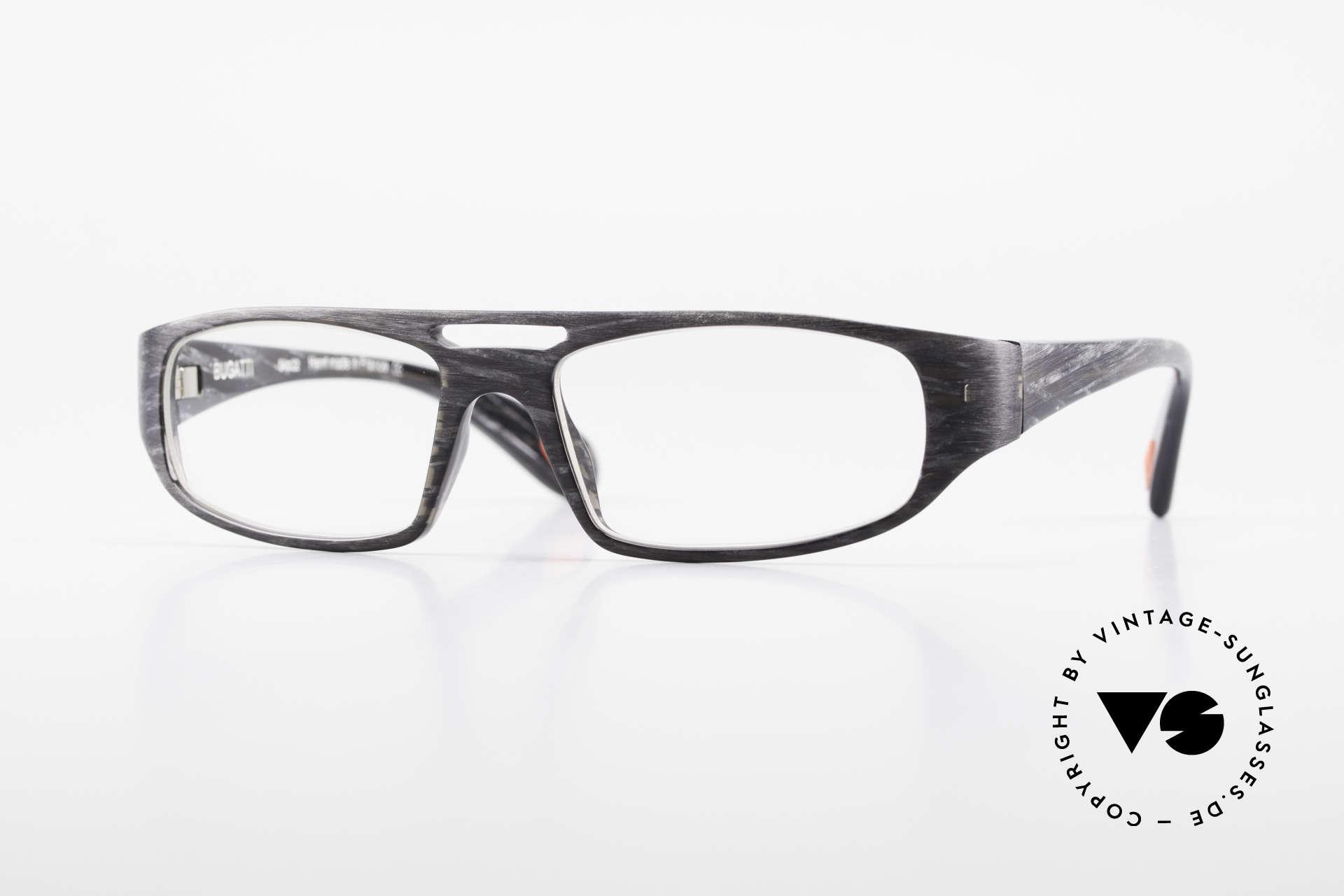 Bugatti 222 Striking Designer Spectacles, striking vintage eyeglass-frame by BUGATTI, Made for Men