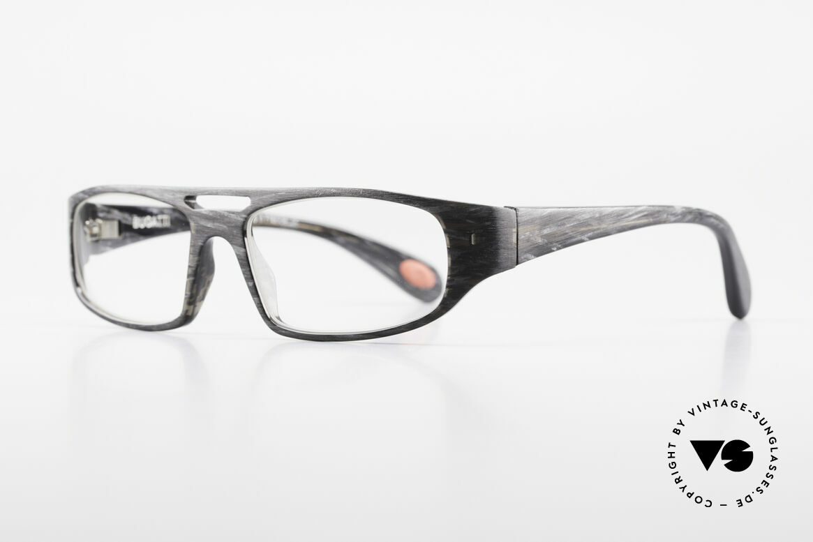 Bugatti 222 Striking Designer Spectacles, 1. class wearing comfort due to spring hinges, Made for Men