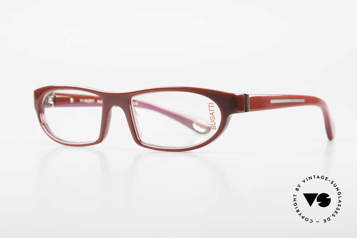 Bugatti 489 Sporty Designer Eyeglasses, 1. class wearing comfort due to spring hinges, Made for Men