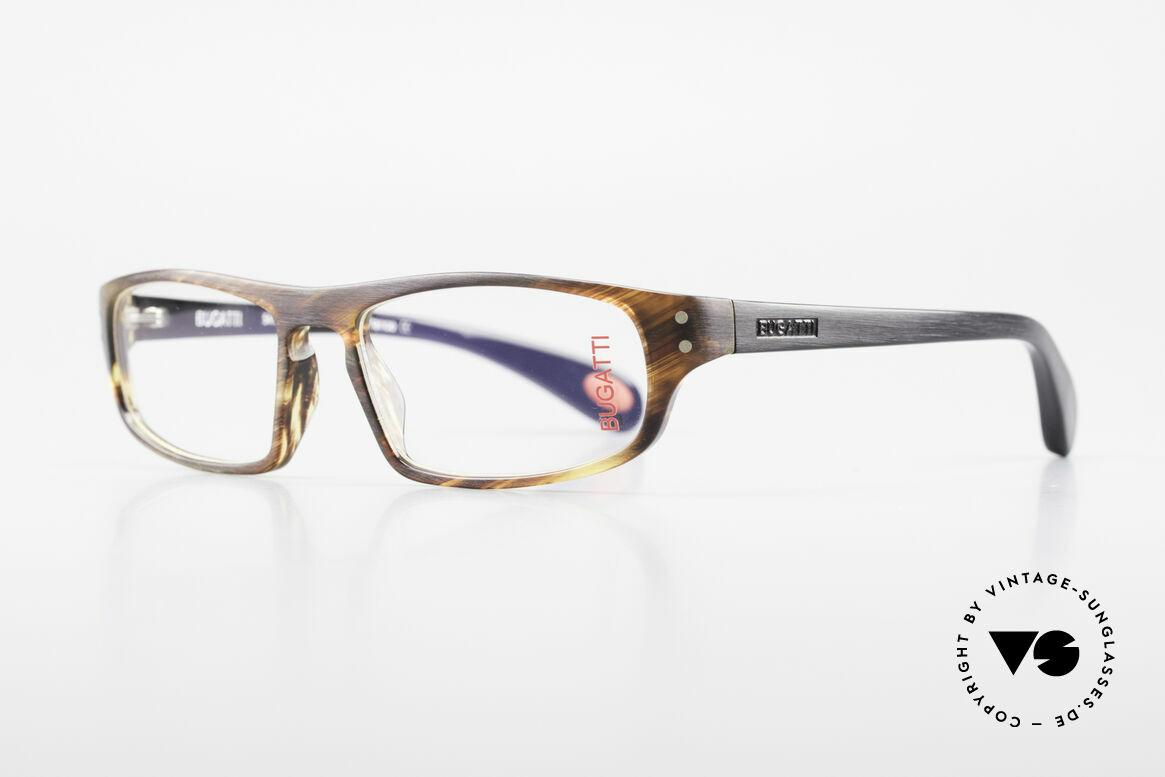 Bugatti 430 Classic Men's Glasses Vintage, interesting frame pattern: satin tortoise/black, Made for Men