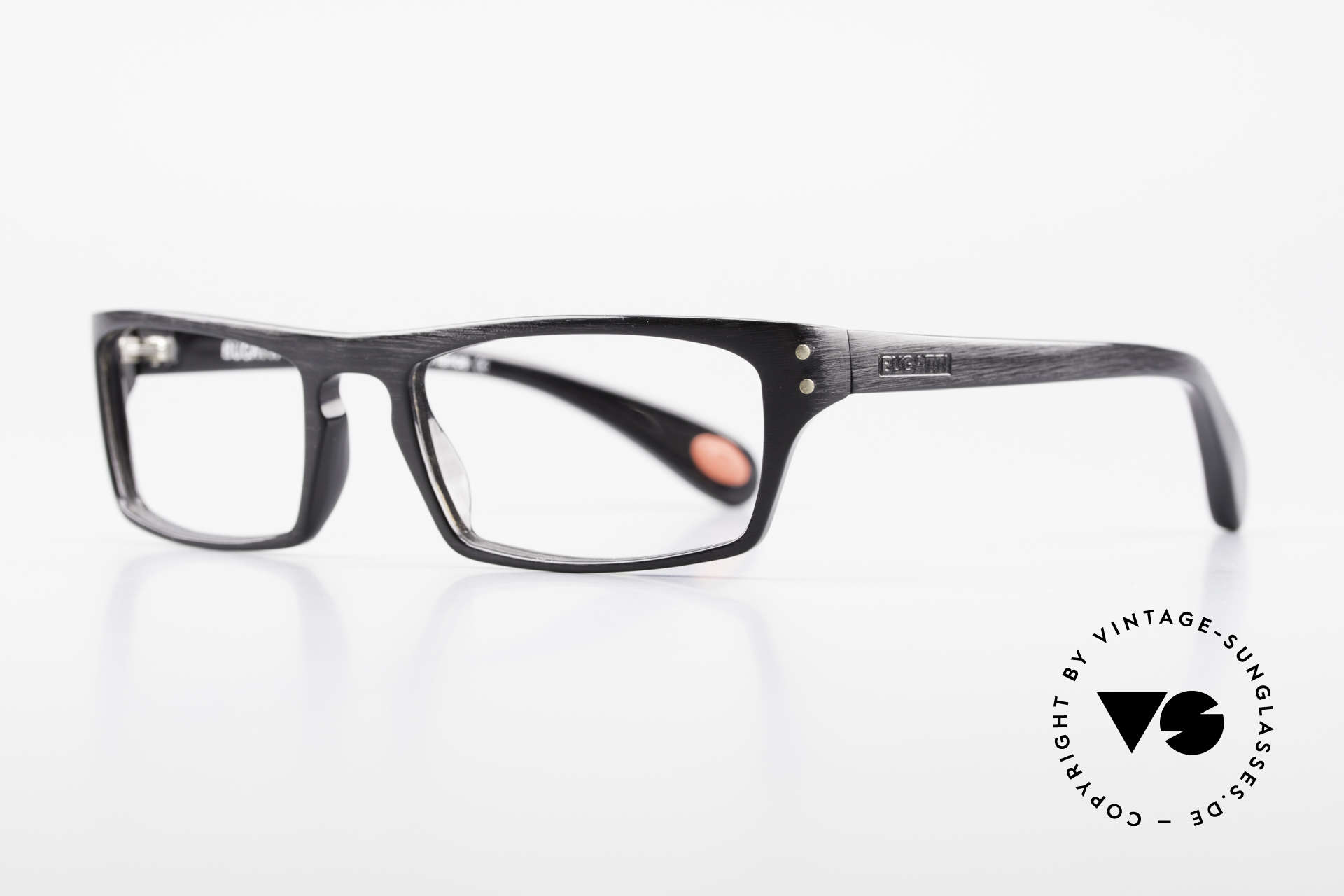"Bugatti 431 Classic Vintage Eyeglasses Men, classic, timeless frame coloring: ""satin black"", Made for Men"