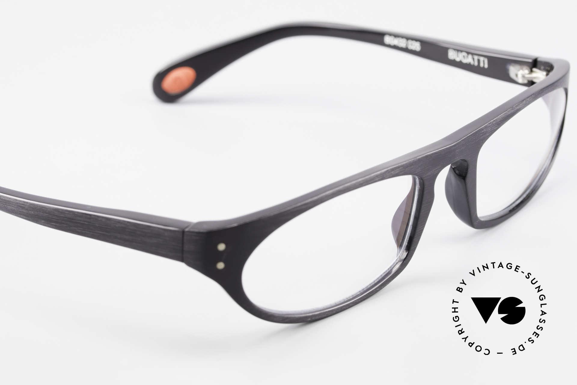 Bugatti 432 Vintage Glasses Classic Black, the frame is made for optical lenses / sun lenses, Made for Men