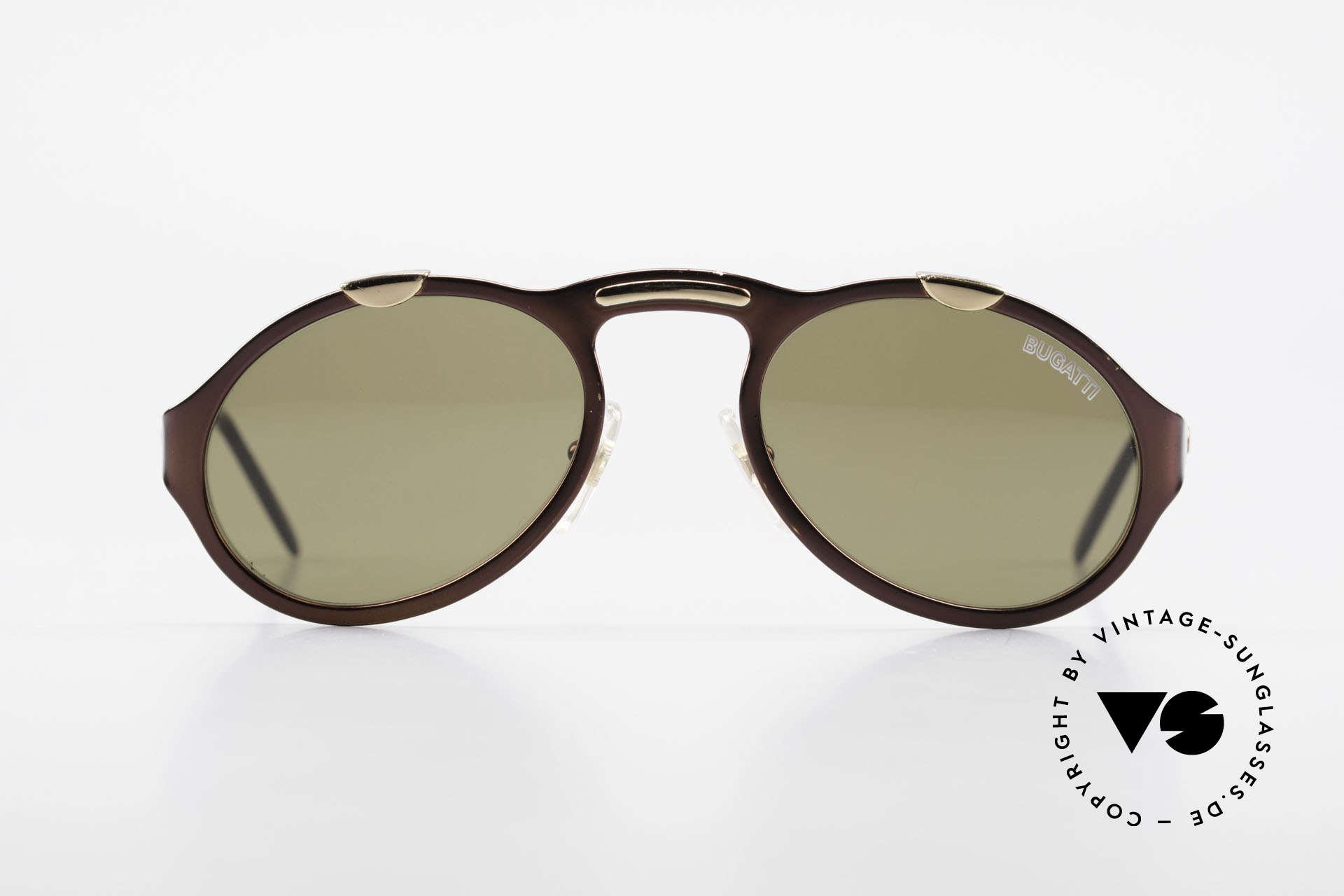 Bugatti 13169 Limited Old Collector's Sunglasses, rare brown-metallic varnish, made around 1995/96, Made for Men