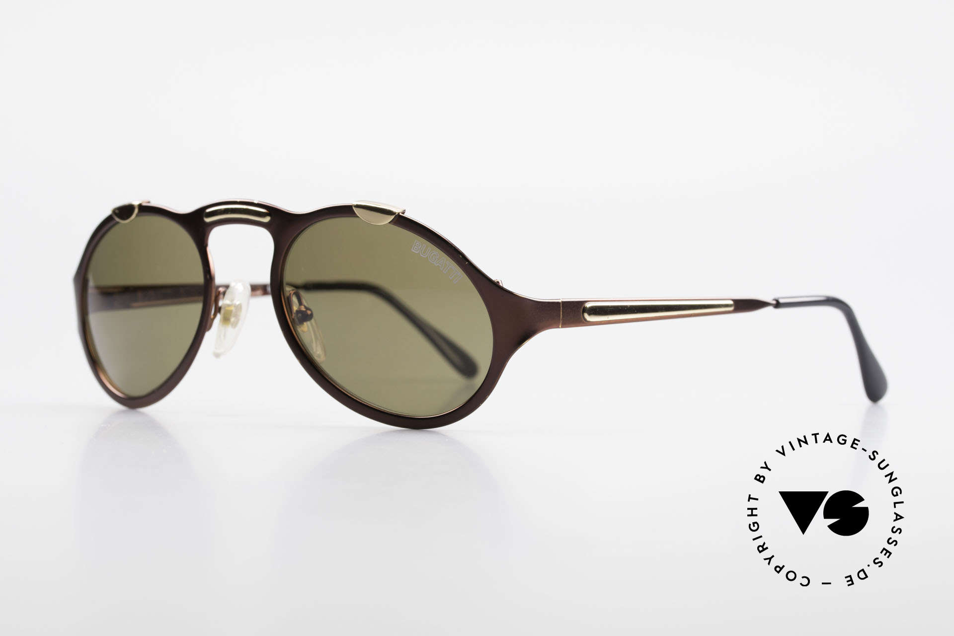 Bugatti 13169 Limited Old Collector's Sunglasses, limited edition (with Bugatti lettering on left lens), Made for Men