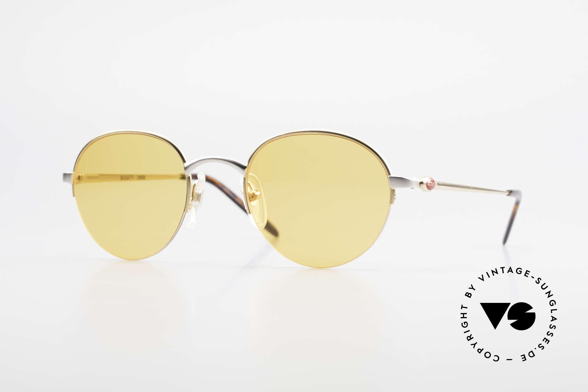 Bugatti 26658 90s Panto Designer Sunglasses, ultra rare Panto designer sunglasses in size 49/21, Made for Men