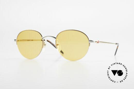 Bugatti 26658 90s Panto Designer Sunglasses Details